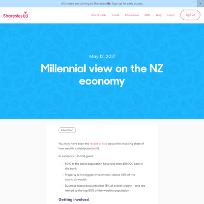 Millennial view on the NZ economy-Sharesies
