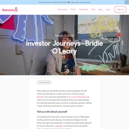 Investor Journeys-Bridie O'Leary-Sharesies