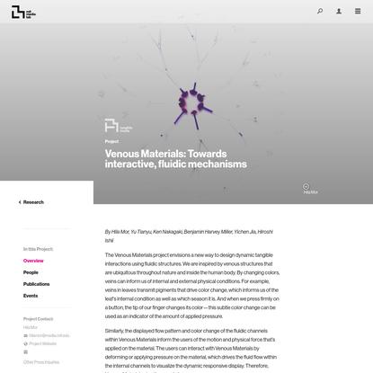 Project Overview ‹ Venous Materials: Towards interactive, fluidic mechanisms - MIT Media Lab