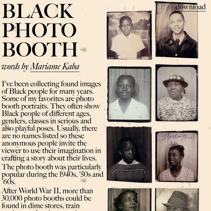 black photo booth