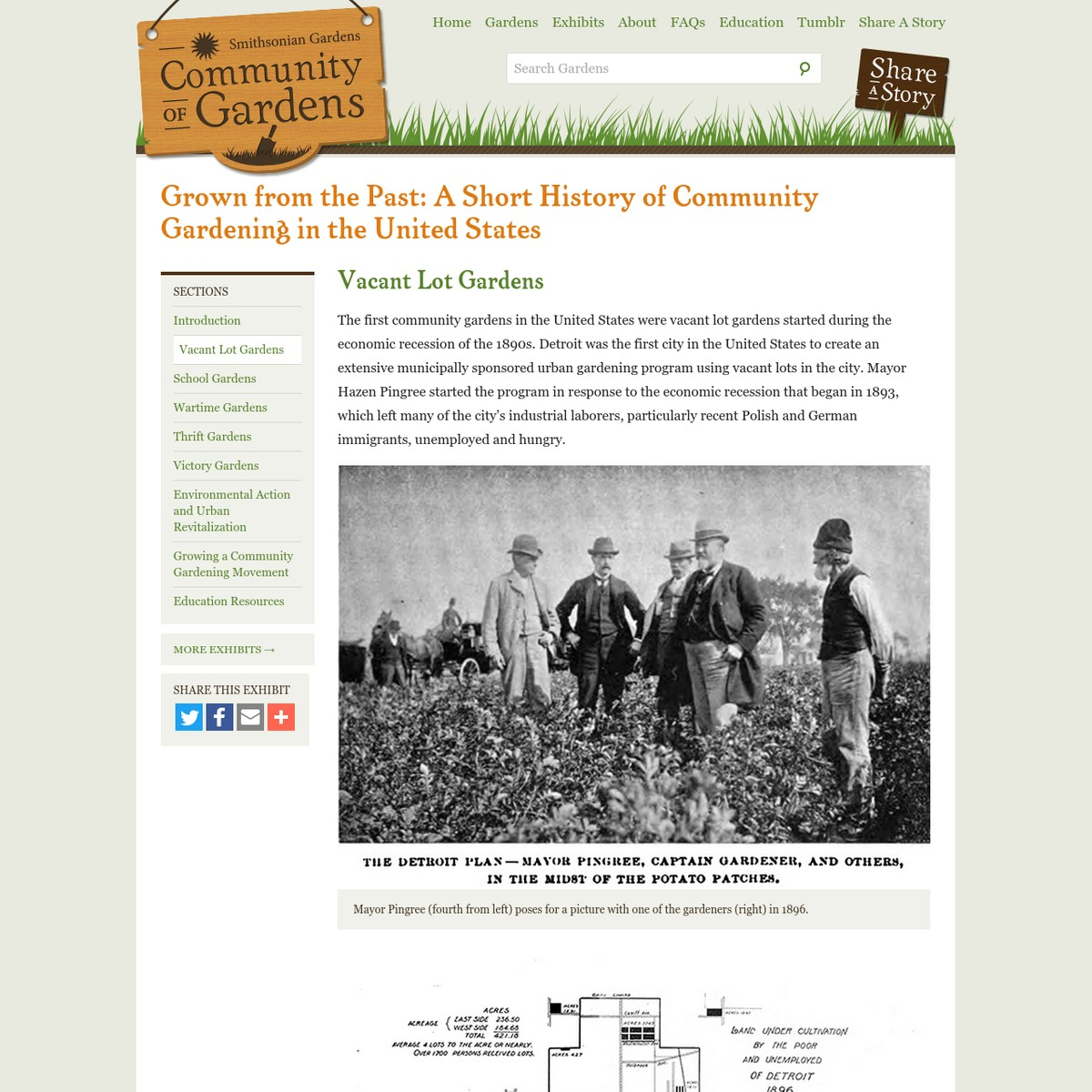 Welcome to Community of Gardens, a digital archive hosted by Smithsonian Gardens in partnership with our Archives of American Gardens and created by YOU. By contributing images, videos, and stories to this website, your participation will help others to better understand the meaning and value of gardens to American life - today and in the future.