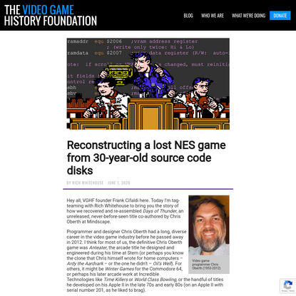 Reconstructing a lost NES game from 30-year-old source code disks