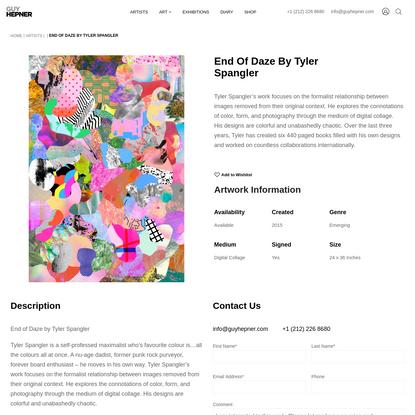 End of Daze by Tyler Spangler - Guy Hepner | Art Gallery | Prints for Sale | Chelsea, New York City