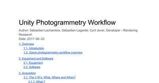 Unity Photogrammetry Workflow