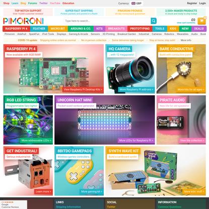 Pimoroni: Raspberry Pi, Adafruit, micro:bit, and Arduino in the UK
