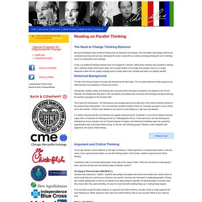 The de Bono Group - Parallel Thinking