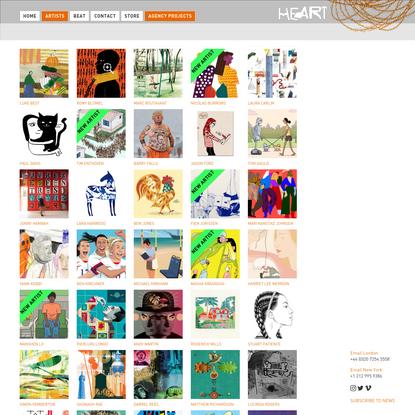 Artists Archive - Heart Agency