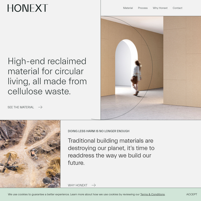 Sustainable building materials | Honext