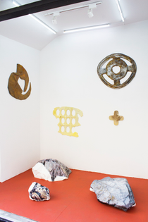 Installation view. Shanti Grumbine, Arghavan Khosravi, Clement Valla.