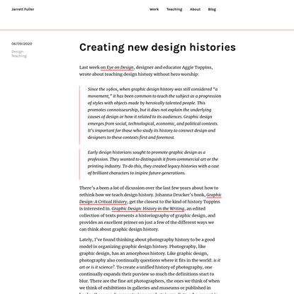 Creating new design histories