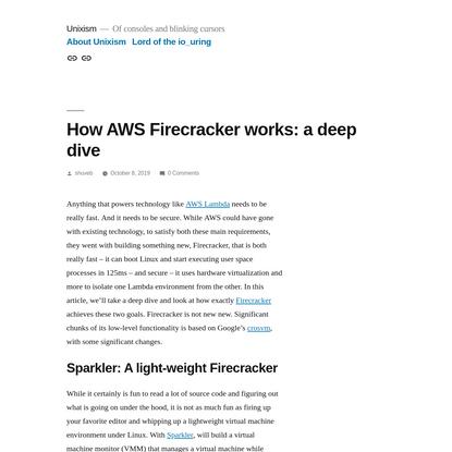 How AWS Firecracker works: a deep dive - Unixism