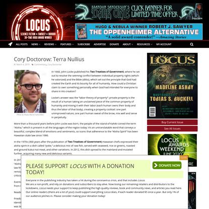 Cory Doctorow: Terra Nullius – Locus Online