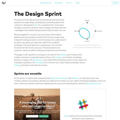 The Design Sprint - GV