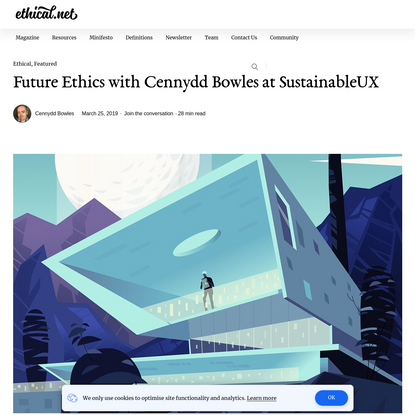 Future Ethics with Cennydd Bowles at SustainableUX - ethical.net