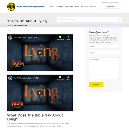What Does the Bible Say About Lying   Your Questions Answered By GBN