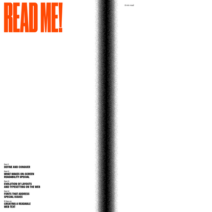 'Read Me: Magazine' by Readymag Templates | Readymag