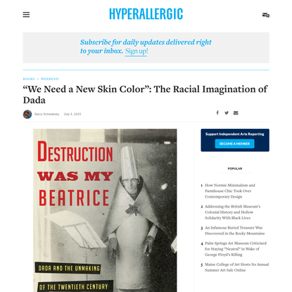 """""""We Need a New Skin Color"""": The Racial Imagination of Dada"""