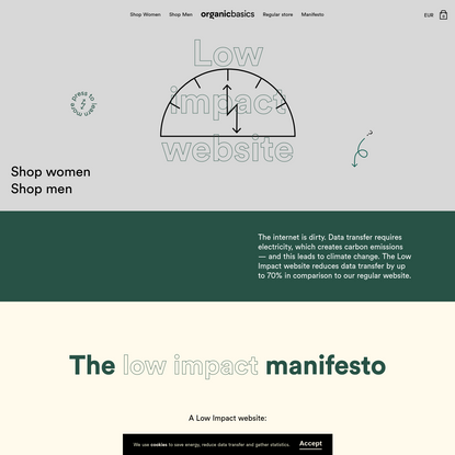 The Low Impact Website | Organic Basics