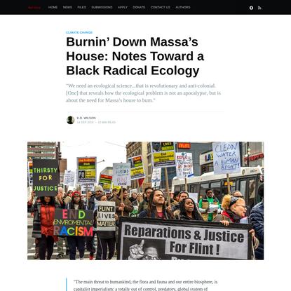 Burnin' Down Massa's House: Notes Toward a Black Radical Ecology