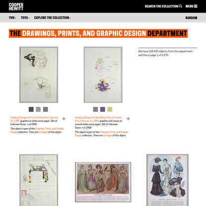 Drawings, Prints, and Graphic Design | Departments | Collection of Cooper Hewitt, Smithsonian Design Museum