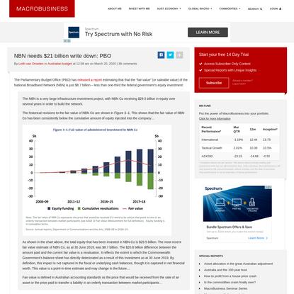 NBN needs $21 billion write down: PBO - MacroBusiness