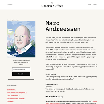 The Observer Effect - Marc Andreessen