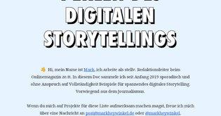 Perlen des digitalen Storytellings
