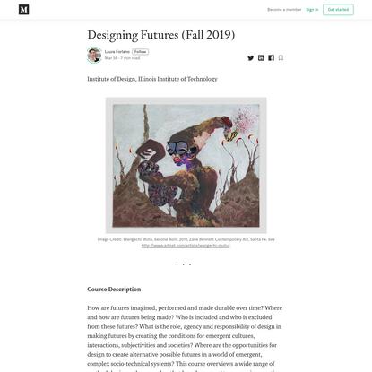 Designing Futures (Fall 2019)