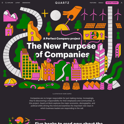 The New Purpose of Companies