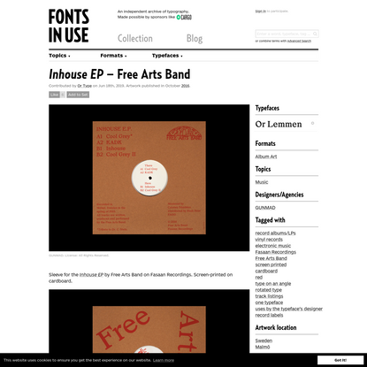 Inhouse EP - Free Arts Band