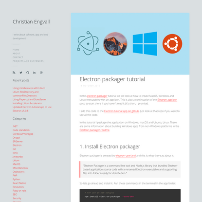 Electron packager tutorial | Christian Engvall