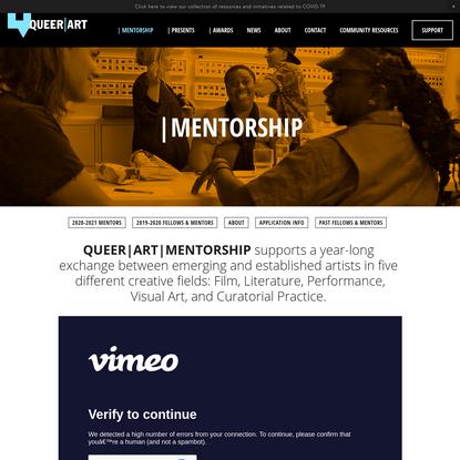 | Mentorship - QUEER | ART