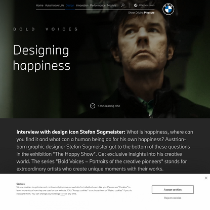 How to design happiness - Interview with star designer Stefan Sagmeister   BMW.com