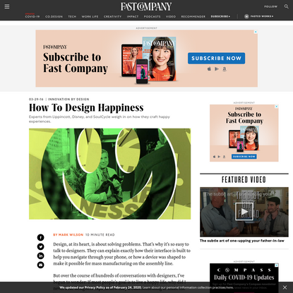How To Design Happiness