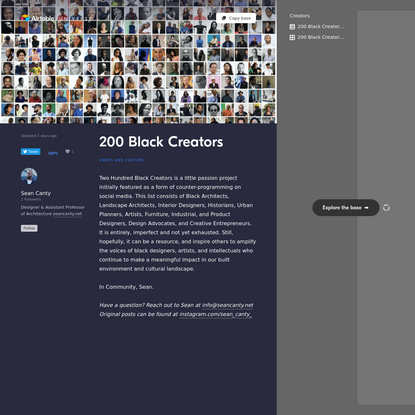 200 Black Creators - Airtable Universe
