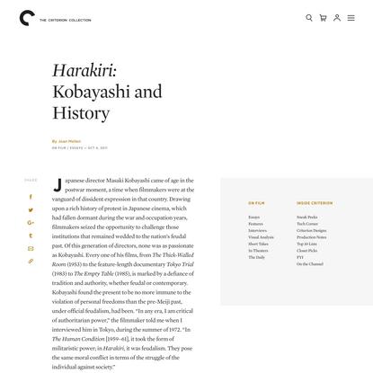 Harakiri: Kobayashi and History