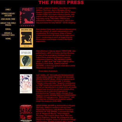 THE FIRE!! PRESS