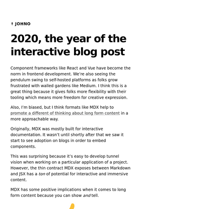 2020, the year of the interactive blog post