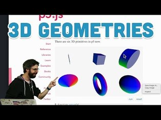 18.2: 3D Geometries - WebGL and p5.js Tutorial