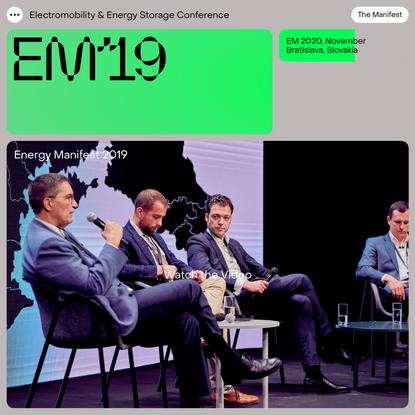 Energy Manifest - Electromobility & Energy Storage Conference
