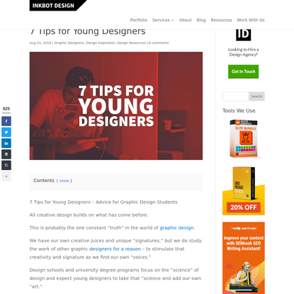 7 Tips For Young Designers - Advice For Graphic Design Students