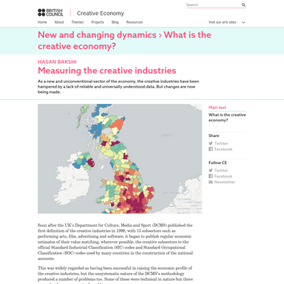 Measuring the creative industries