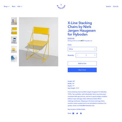 X-Line Stacking Chairs by Niels Jørgen Haugesen for Hybodan
