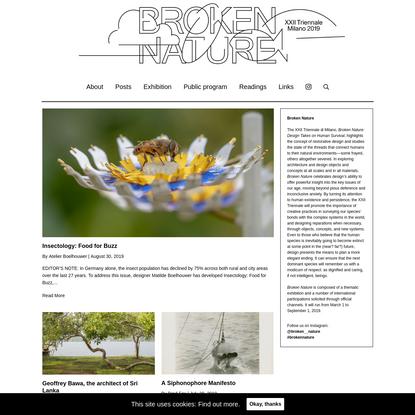 Broken Nature: Design Takes on Human Survival - XXII Triennale di Milano