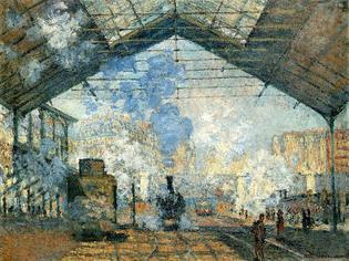 1877: Claude Monet - La Gare St. Lazare