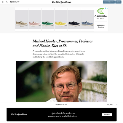 Michael Hawley, Programmer, Professor and Pianist, Dies at 58