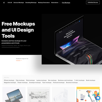 Free Mockups and UI Design Tools [PSD, Sketch, Figma]
