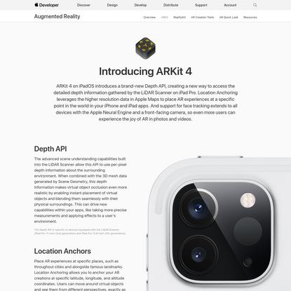 ARKit - Augmented Reality - Apple Developer