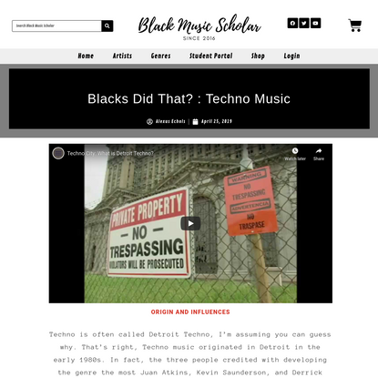 Blacks Did That? : Techno Music