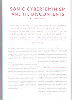 Annie Goh, Sonic Cyberfeminisms and its Discontents, 2014